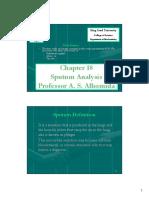 Chapter 18 (Sputum Analysis)
