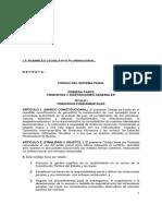 LEY 1005 Código Del Sistema Penal 14-12-17 PL 122-17-18
