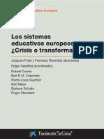 Los Sistemas Educativos Europeos. J. Prats y F. Raventos