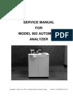 Hitachi 902 Automated Analyzer - Service Manual