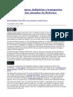 The Intercept- Lobistas de Bancos, Indústrias e Transportes Estão Por Trás Das Emendas Da Reforma Trabalhista