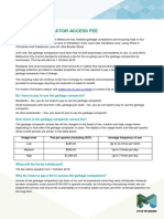 Garbage Compactor Access Fee Fact Sheet