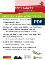 Friends of Armley Park Events 2018
