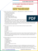 Current Affairs November Question & Answer 2017 PDF by AffairsCloud