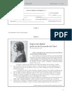Testes de avaliação (Para)Textos • 7.° ano 1