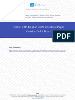 English 2009 Unsolved Paper Outside Delhi Board