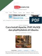Cara Install Apache, PHP, MySQL, Dan PhpMyAdmin Di Ubuntu - Pintar Komputer