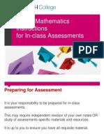 MUFY Maths Instructions for Assessment Tasks