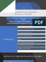 Organolanthaniden in Der Organische Synthese Und Katalyse