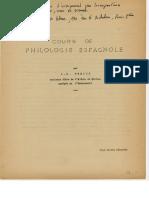 Cours de Philologie Espagnole, Par I. R. Frehut (1950,..., 1960... ¿)