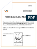 Certificado Defensa Civil