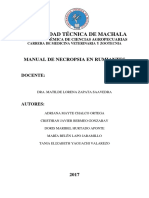 Manual de Necropsia en Rumiantes