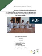INFORME DE LABORATORIO DE QUIMICA N°3