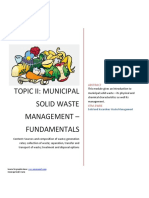 Municipal Solid Waste Management Fundamentals
