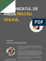 Comunicatul de Presa Pentru Online