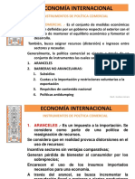 Economia Internacional Instrumentos de Política Comercial