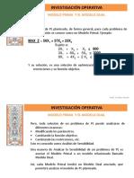 5-2 Investigacion Operativa---modelo Prima y El Modelo Dual