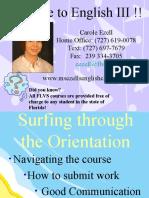 English 3 orientation
