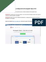 Instalación y Configuración Del Navegador Opera 32 Firmado