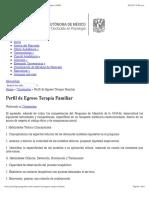 Perfil de Egreso Terapia Familiar | Posgrado de Psicología | UNAM