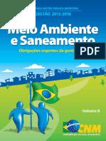 Meio Ambiente e Saneamento - Obrigações Urgentes da Gestão Local
