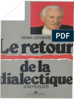 LEFEBVRE_Le Retour de La Dialectique_EBOOK