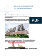 A ROBUST REGULATOR A FUNDAMENTAL INGREDIENT IN A SUSTAINABLE MARKET ECONOMY.docx