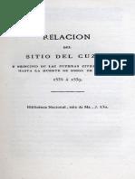 Relación Del Sitio de Cuzco