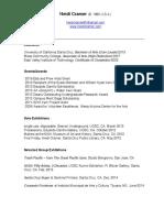 heidi cramer cv resume 2018