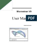Microstran V9 User Manual