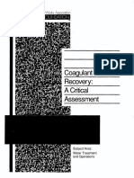 AWWA Coagulant Recovery Assessement