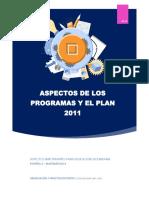 Aspectos de Los Programas y El Plan 2011