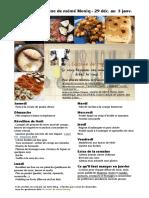 Menu de La Cuisine de Meme Moniq 30 Dec Au 5 Janv
