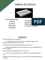 Les Batterie Du Lithium (Final)