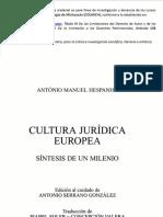 Cultura Juridica Europea Cap. 1-3