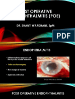 Post Operative Endophthalmitis (Poe)