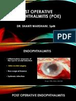 Post Operative Endophthalmitis (Poe)