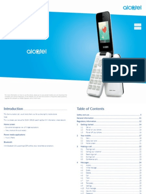 ALCATEL Cell Phone 2051X 2051D Pocket PC and PDA User Manual