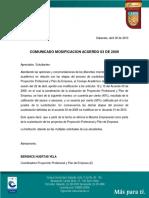 Comunicado Modificación Acuerdo 03 de 2009_0