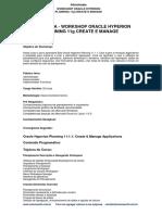 3i Programa Workshop Oracle Hyperion Planning 11 g Create e Manage
