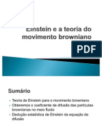 Einstein e a Teoria Do Movimento Browniano