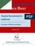 Teacher Recruitment in California Research-Brief
