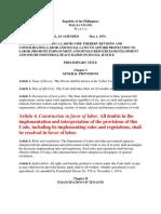 Labor Code General Provisions