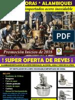 Destilador Alambique Chino de 10 Litros Promocion Enero 2018