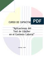 Aplicaciones Del Test de Luscher en El Contexto Laboral
