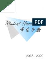 Student Handbook 2018-2020