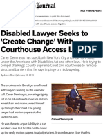 Disabled Lawyer Seeks to 'Create Change' With Courthouse Access Litigation -- New York Law Journal