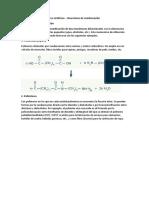 Formación de Los Polímeros Sintéticos