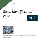 Resin Identification Code