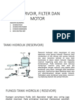 Raservoir, Filter Dan Motor pada Alat Berat